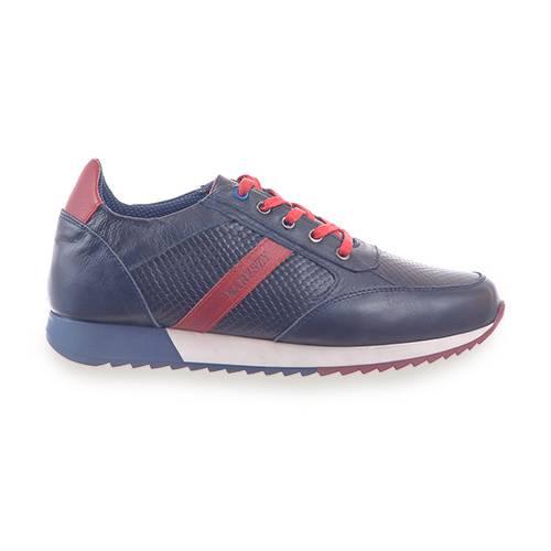 Sneaker En Cuero Azul