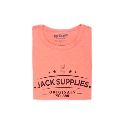 Camiseta Cuello Redondo Jack Supplies Para Hombre - Rojo