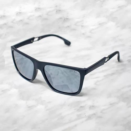 Gafas de sol polarizada con filtro UV 400 Gris Espejo - Negro
