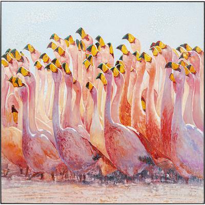 Cuadro Frame Swarm Of Flamingos 180x180cm