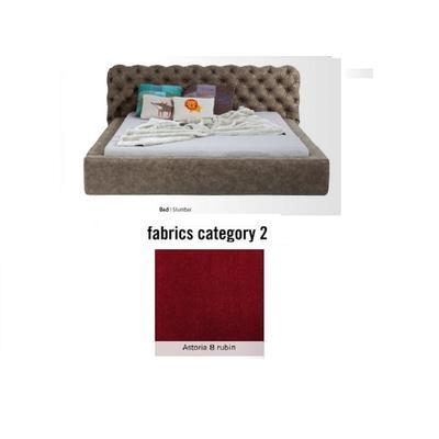 Cama Slumber,  tela 2 - Astoria 8 rubin,  (82x228x239cms), 180x200cm (no incluye colchón)