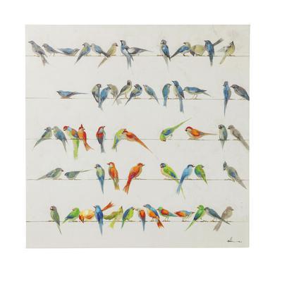 Cuadro Birds Meeting 100x100 cm