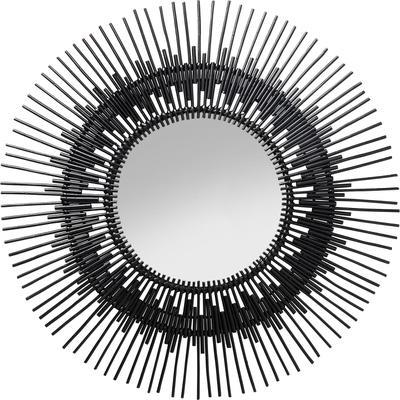Espejo Icario negro Ø90cm
