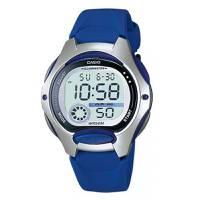 Reloj digital gris-azul 0-2A