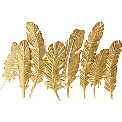 Perchero pared Leaf oro 86cm