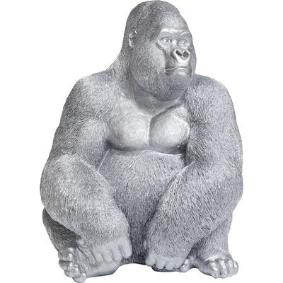 Figura Monkey Gorilla Side XL plata mate