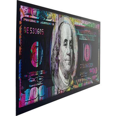 Cuadro cristal Metallic Dollar 80x200cm