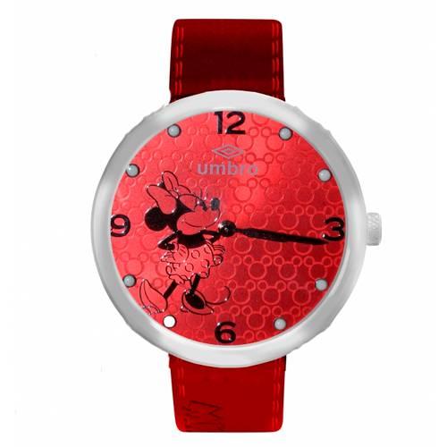 Reloj Análogo Plateado-Rojo Umb-Mm01-3