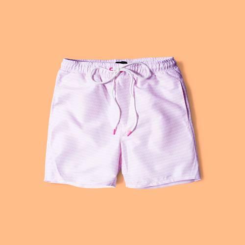 Pantaloneta Color Siete Para Hombre  - Rosado