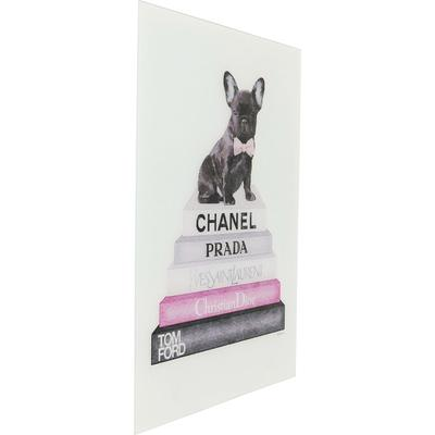 Cuadro cristal Fashion Dog 80x60cm