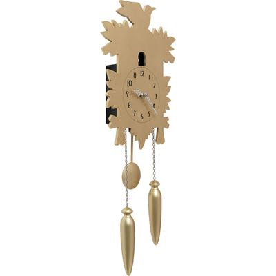 Reloj pared Cuckoo Bird mate oro 24x58cm