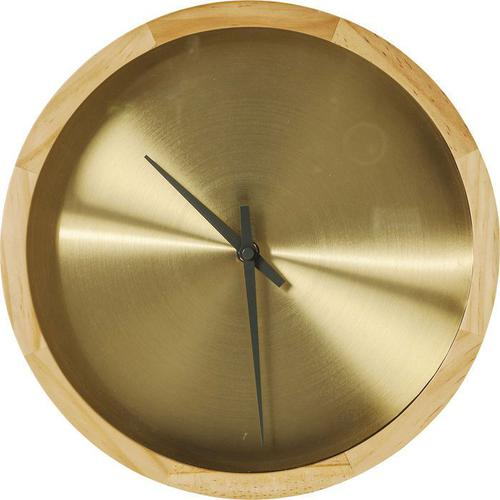 Reloj pared Edge dorado Ø29cm