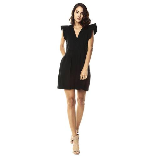 Vestido Boleros Color Siete Para Mujer  - Negro