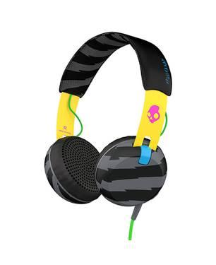 Audífonos Grind Localsonly/Yel/Bk Ttec Negro/Amarillo Estampado Ht-466 Negro/Amarillo Estampado - Skullcandy