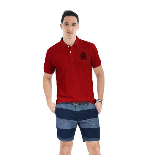 Polo Color Siete para Hombre Rojo - Hoyos
