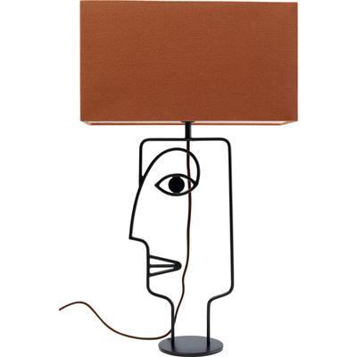 Lámpara mesa Face Wire naranja