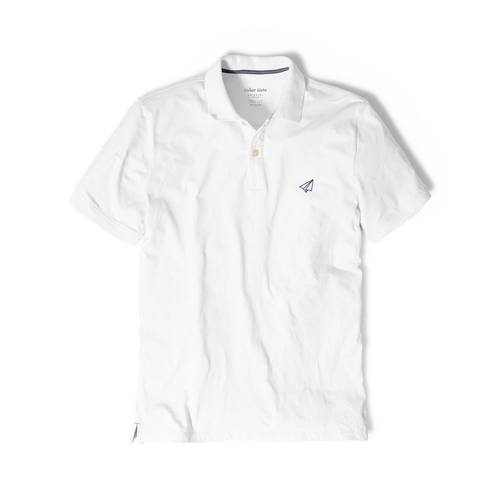 Polo Color Siete Para Hombre Blanco - Avion de Papel