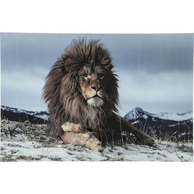 Cuadro cristal Proud Lion 120x80cm