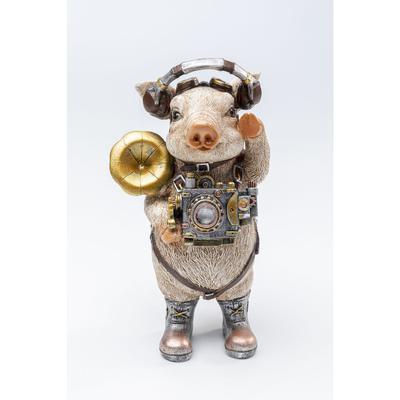 Figura decorativa Pig Musician