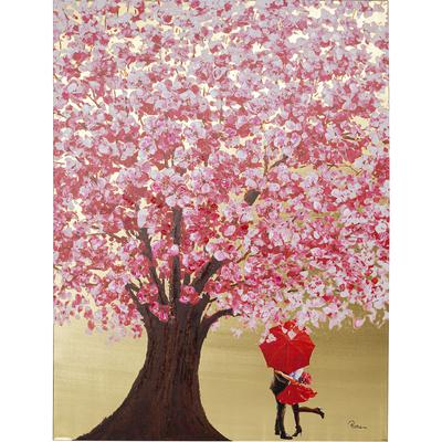 Cuadro Flower Couple oro rosa 160x120cm