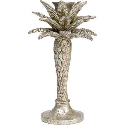 Portavelas Palm Tree plata 26cm