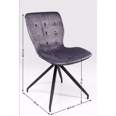 Silla Butterfly gris oscuro