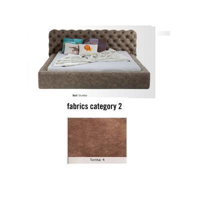 Cama Slumber,  tela 2 - Tonka 4,   (87x208x239cms), 160x200cm (no incluye colchón)