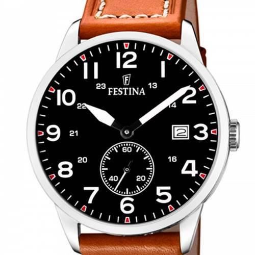 Reloj analógico negro-marrón 47-7