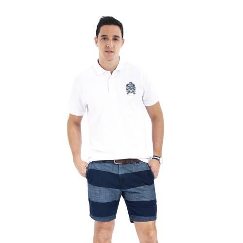 Polo Color Siete para Hombre Blanco - Herrera