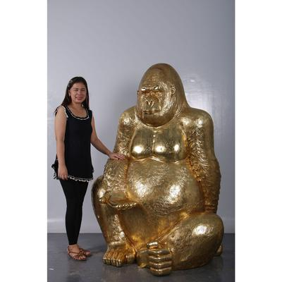 Figura Gorilla oro XL 180cm