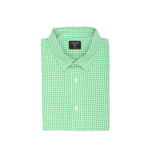 Camisa Manga Larga Color Siete Para Hombre  - Verde