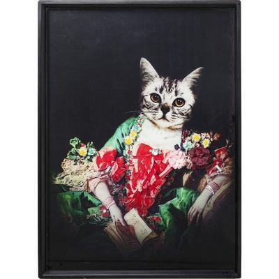 Cuadro Lady Cat 80x60cm