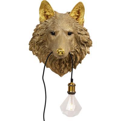 Lámpara pared Wolf Head