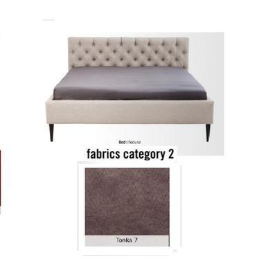 Cama Nova,  tela 2 - Tonka 7,  (85x180x215cms), 160x200cm (no incluye colchón)