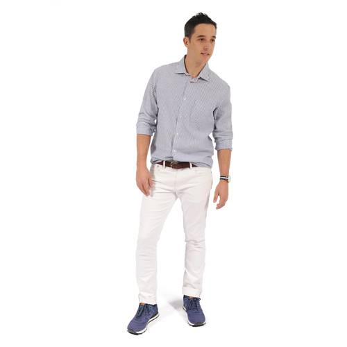 Camisa Manga Larga Thompsom Color Siete Para Hombre - Gris