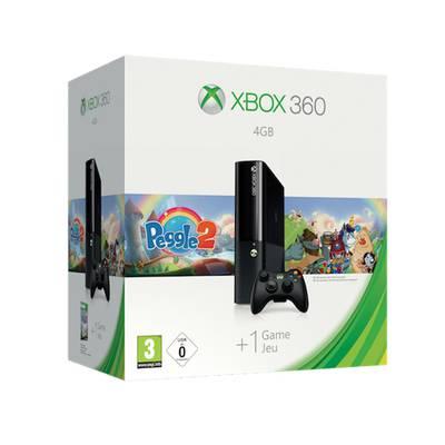 Xbox 360 4GB + Control inalámbrico + Juego Peggle 2