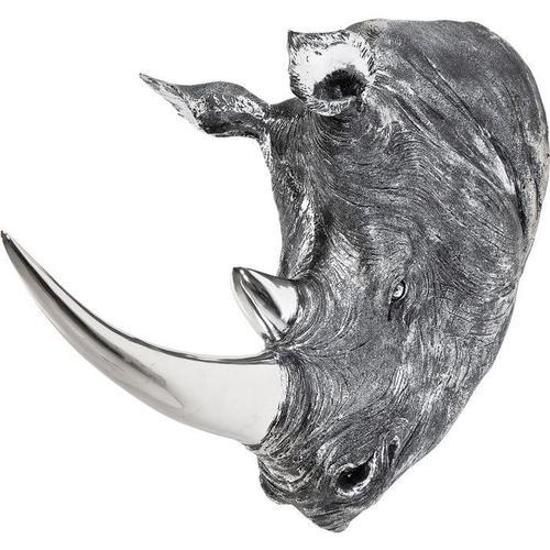 Objeto decorativo Cabeza Rhino Antique
