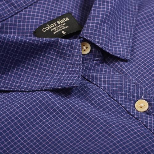 Camisa Color Siete Para Mujer - Azul