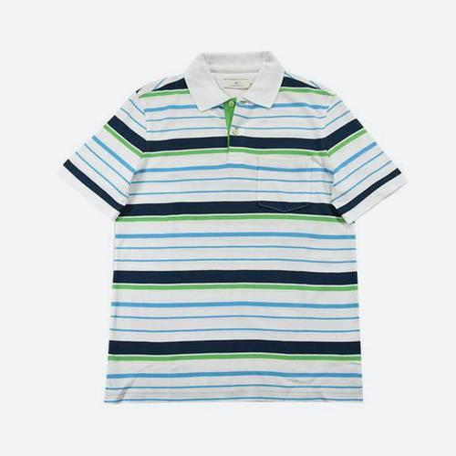 Camiseta Polo Nal Rayas Pique Blanco 000-14 - Arturo Calle