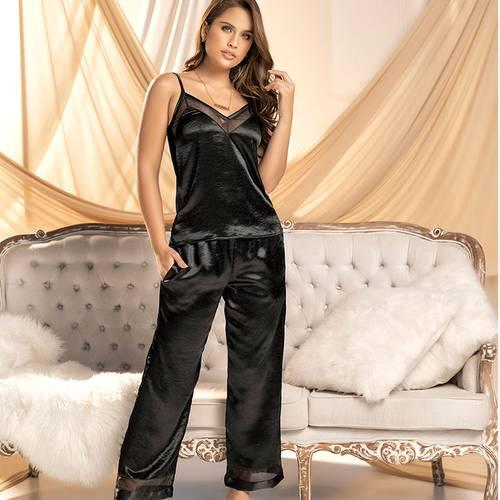 Pijama Pantalón Largo Negro 7845