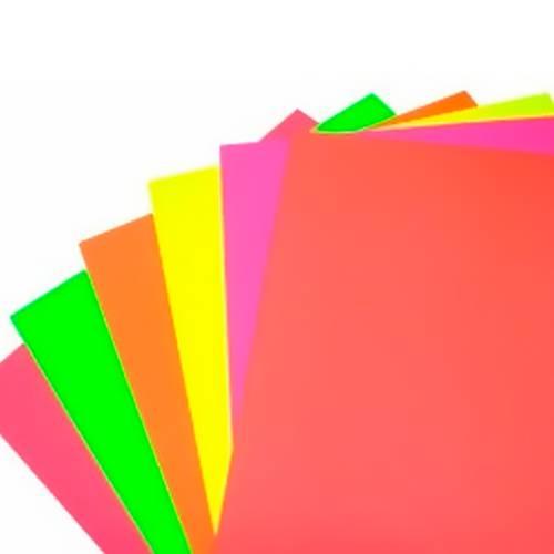 Cartulina 1/8 Fluorescente X10 - X3 Paquetes - Colores Surtidos