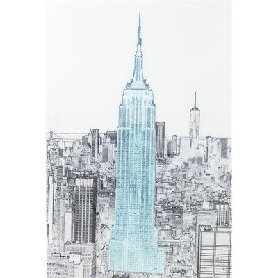 Cuadro cristal Drawing Empire State Building 120x8
