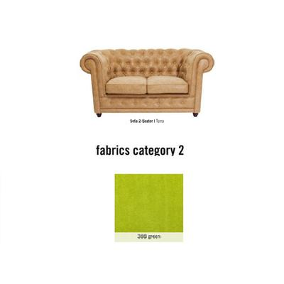 Sofá Oxford, 2 puestos, tela 2 - 388 green  (160x76x92cms)