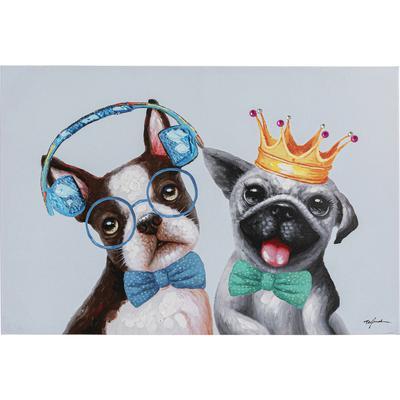 Cuadro Dog Music Lover&King 70x100