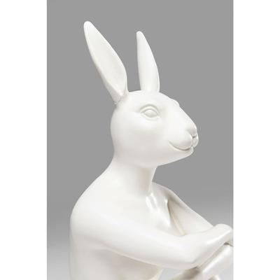 Figura decorativa Gangster Rabbit blanco