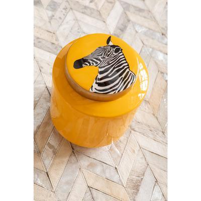 Vasija decorativa Zebra amarillo 25cm
