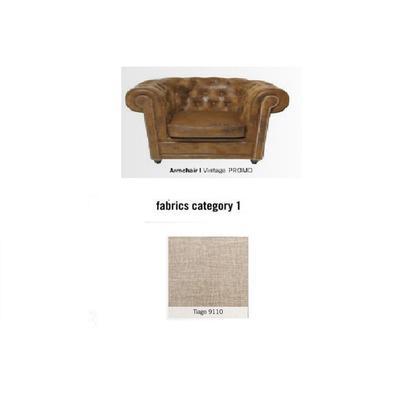 Poltrona Cambridge, tela 1 - Tiago 9110  (115x76x92cms)