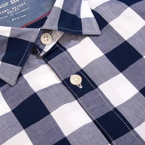 Camisa Leroy Manga Larga Color Siete Para Hombre - Azul