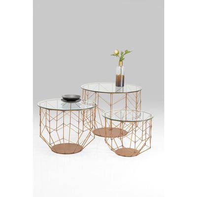 Mesa centro Wire Grid cobre (3/Set)