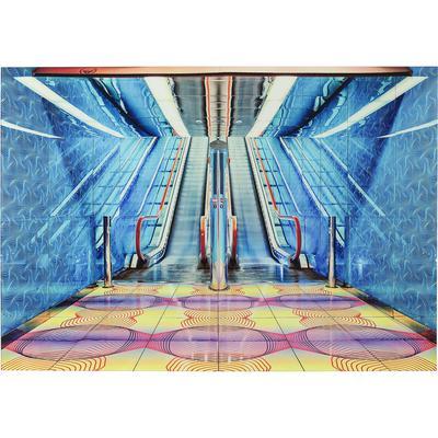 Cuadro cristal Escalator Show 80x120cm